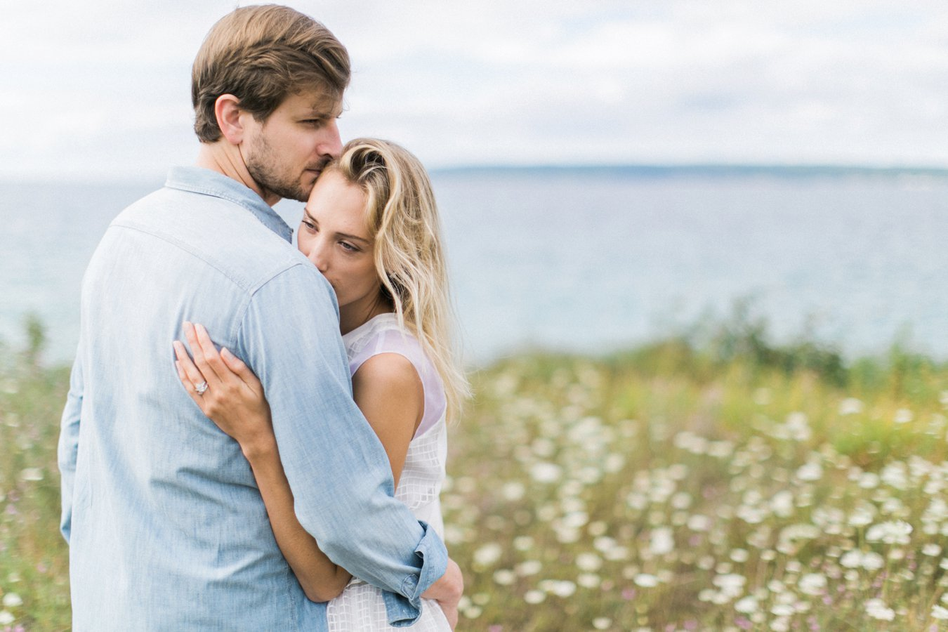 Bay Harbor Engagement Photography | Summer wildflowers | Cory Weber Photography