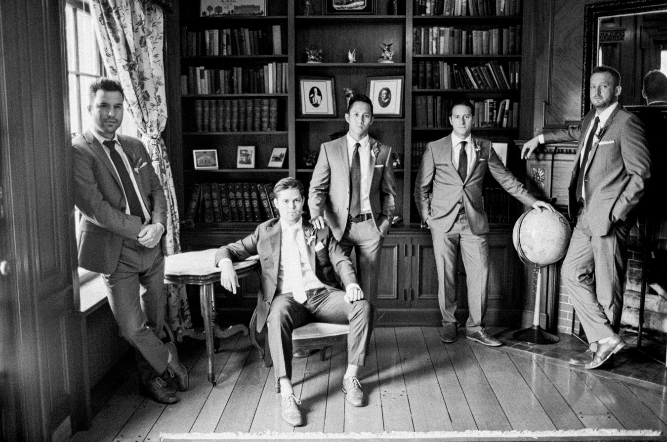 Stylish Groomsmen | The Felt Estate Holland Michigan wedding | Cory Weber Photography