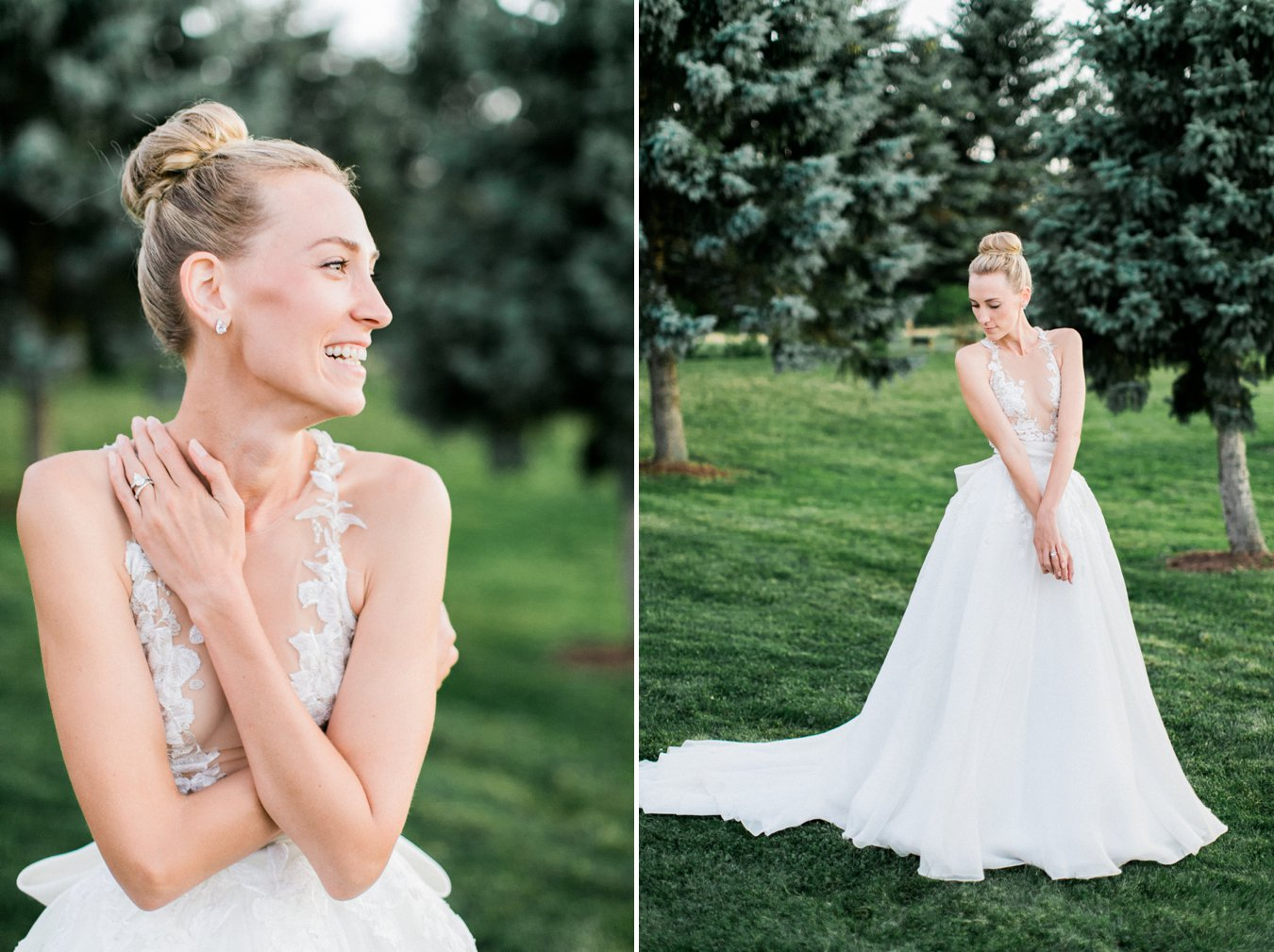 Beautiful bridal portraits | Custom Mark Zunino gown | Cory Weber Photography