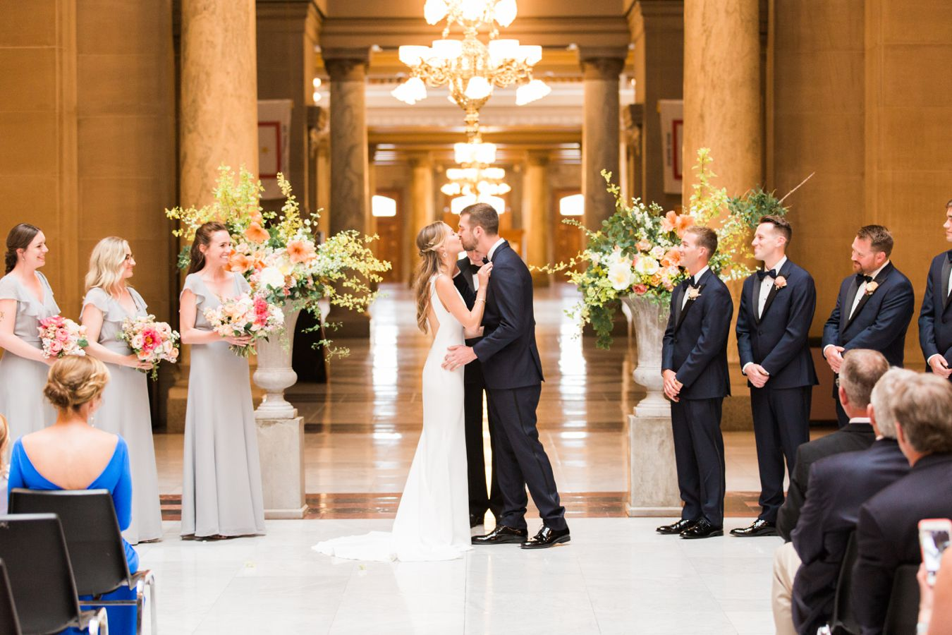 State Capital Building Indianapolis Wedding Photography | Cory Weber Photography